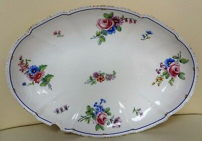 18th Century Floral Sevres Porcelain Oval Dish Signed M and Dated 1789 #2