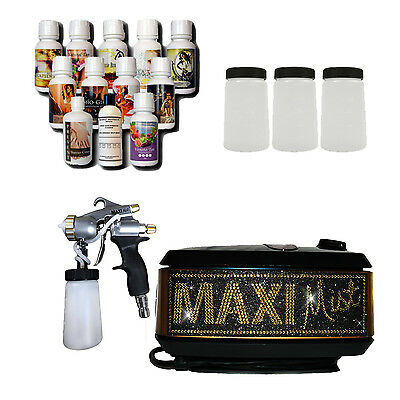 Maximist Allure Pro Bling Sunless Spray Tan machine with Tampa Bay Tan Solution
