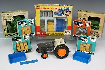 BRITAINS FARM ©1985 6600 TRACTOR (9420) + TRACTOR LOADS, etc (some BOXED)...!!