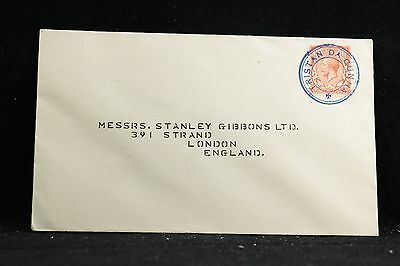 Tristan da Cunha: 1934 Cover to Stanley Gibbons in London, Perfect Blue Cancel