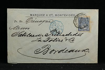 Uruguay: 1888 French Packet Boat Cover to France
