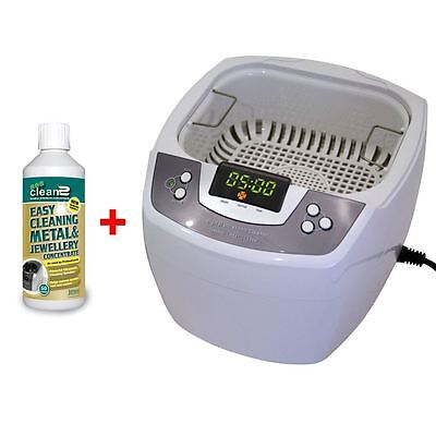 James Products 80W Digital Timer Ultrasonic Cleaner + Sea Cleaning Fluid New