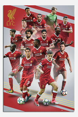 Liverpool FC Players 2017 / 2018 Season Poster New - Maxi Size 36 x 24 Inch