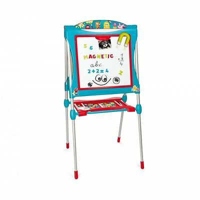 Smoby Children Kids Ultimate Metallic Double Sided Drawing Board - Blue New