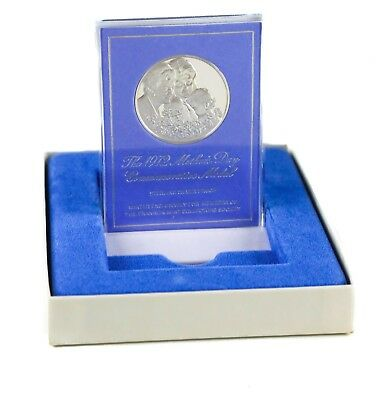 The 1972 Mother's Day Commemorative Sterling Silver Proof Medal w/ Stand