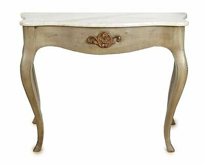 """MARBLE TOP OCCASIONAL CONSOLE WALL TABLE 39""""W x 31""""H x 22""""D"""