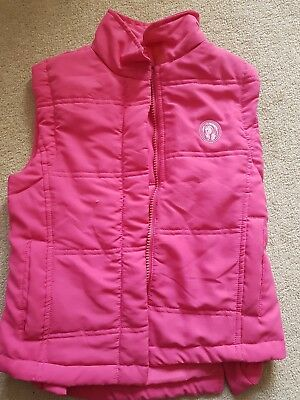 Equestrian Pink Girls  Horse Riding body Warm Winter Equestrian Gillet 4 5 years