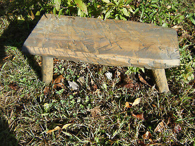 3 Legs Wooden Milking Stool Farm Country Reproduced Hand Made Antique Primitive