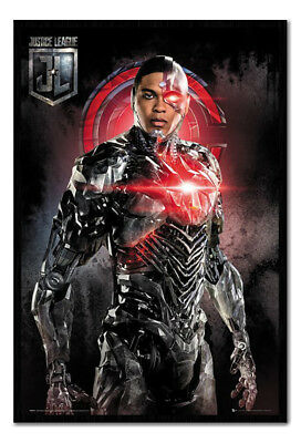 Framed Justice League Cyborg Solo Poster New