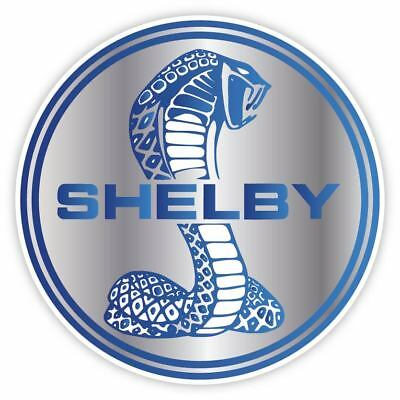 Cobra Shelby Ford Mustang GT Racing Blue Vinyl Sticker Decal