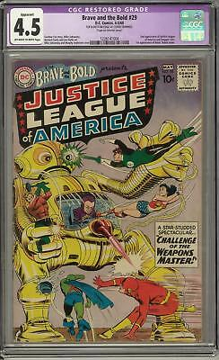 Brave and the Bold #29 CGC 4.5 (OW-W) 2nd appearance of the Justice League
