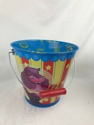 circus themed beach sand bucket pale silly lion elephant hippo schylling 2006