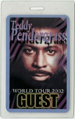 Teddy Pendergrass authentic 2002 concert tour Laminated Backstage Pass rare