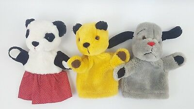 Sooty & Sweep Show Glove Hand Puppets Soo Sooty Soft Plush Toy Patsy Golden Bear