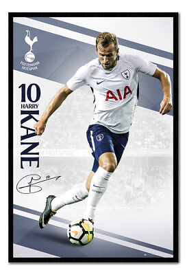 Framed Tottenham Hotspur Harry Kane 2017 / 2018 Season Poster New
