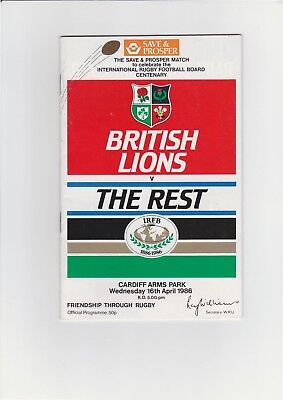 British Lions v. The Rest Rugby Union Programme 1986