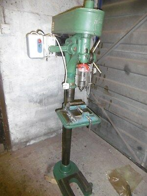 Denbigh cast iron  pillar drill.   Good working order. 240 V Single Phase.
