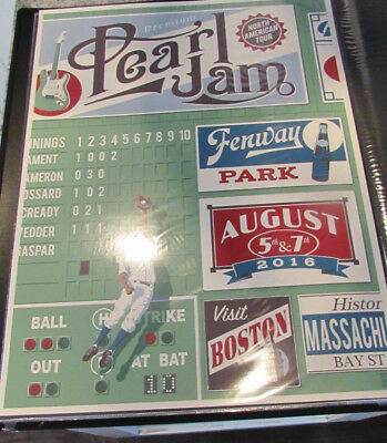 Pearl Jam Fenway Steve Thomas The Catch Poster