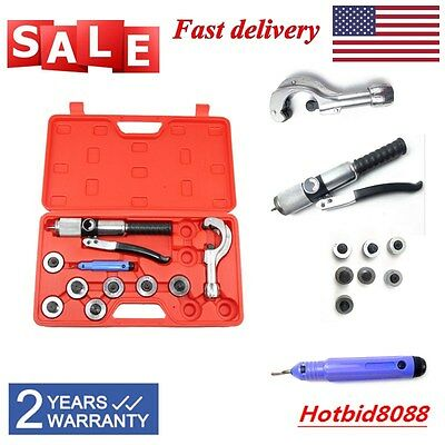 7 Lever Hydraulic Copper Tube HVAC Tool Set  Expander Tool Hand Swaging Kit SALE