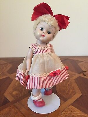 GINNY Vogue Doll June #41Tiny Miss Original Dress Curly Poodle Blonde Hair