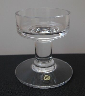 Glass Candle Holder - Dartington - 24% Lead Crystal - 9cms High Made In England