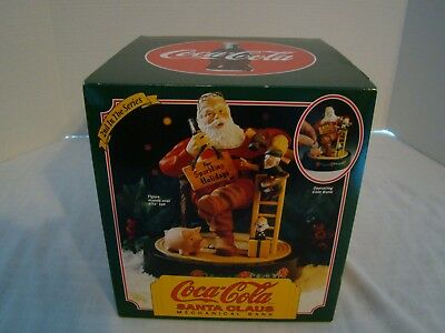 Coca Cola Santa Claus Mechanical Bank 1994- New in Box - Includes Certificate