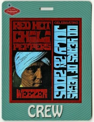 Red Hot Chili Peppers 2005 Laminated Backstage Pass 100 Years of Vegas Weezer