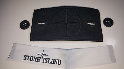 Brand new stone island replacement black ghost badge sets with buttons & lables