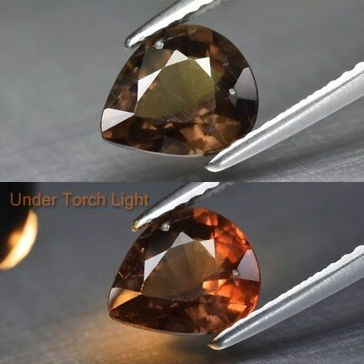 1.88ct 8x7mm Pear Natural Unheated Color Change Garnet, Africa