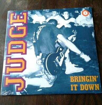 Judge - 'Bringin' it down' Lp. 2015 25th Anniversary press.Purple vinyl. sXe. SS