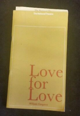 Vintage Laurence Olivier National Theatre Programme Love for Love