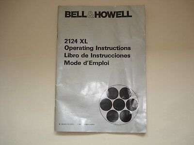 bell howell 2124 Operating Instructions