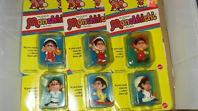Lot Of 6 Monchhichi Figures ***sealed***