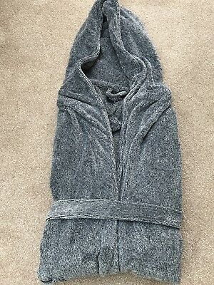 BNWOT Men's Next Grey Hooded Dressing Gown. Size XL