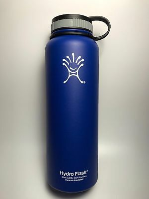 Blue 40oz Hydro Flask Insulated Stainless Steel Water Bottle Wide Mouth New
