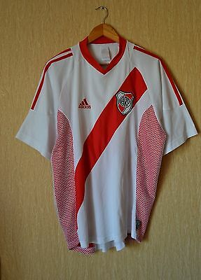 RIVER PLATE ARGENTINA 2002/2003 Home Football Shirt (XL) Soccer Jersey Adidas