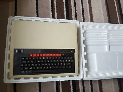 BBC Micro Model B in original packaging with cables and welcome pack