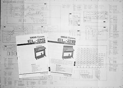 "Notices techniques ""Service manual"" orgues YAMAHA Electone EL-25 & EL-28"