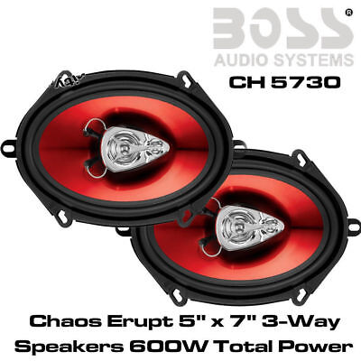 "FORD KA, Transit, Focus, Fiesta 5""x7"" 3 Way Coaxial Car Door Speakers 600W"