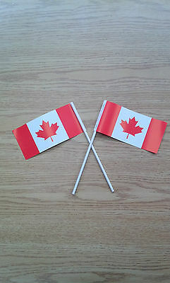 Paper Hand Flags Canada x 100 LOT