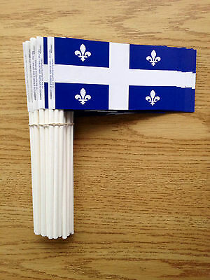 Quebec Paper Hand Flags  X 1000 LOT