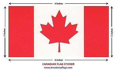 Canada Flag Stickers 1000 LOT 2x4inches or 10x5cm