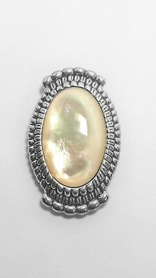 Solid 925 Sterling Carolyn Pollack Relios MOP Pendant / Pin