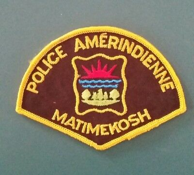 Matimekosh amerindian first nation police patch Québec Canada