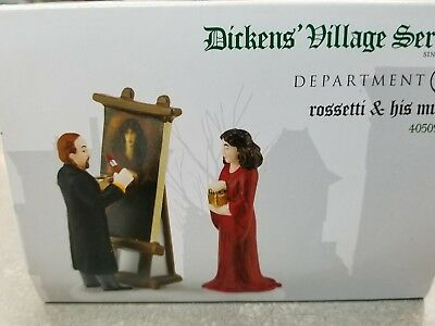 Dept 56 Dickens' Accessory 'Rossetti & His Muse' Painting #4050937 NIB