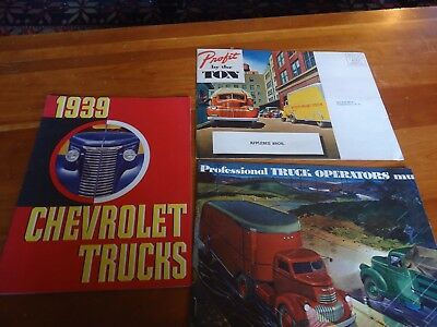CHEVROLET TRUCKS 1939 1941 sales brochure fold out