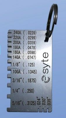 Stainless Steel Metal Gauge - Laser Etched for durability  E-MG