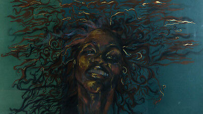 Contemporary Mixed Media - Woman with Wild Hair