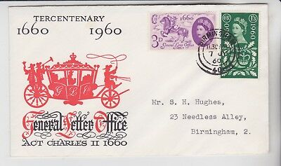 Gb Stamp First Day Cover 1960 General Letter Office Birmingham Rares Collection