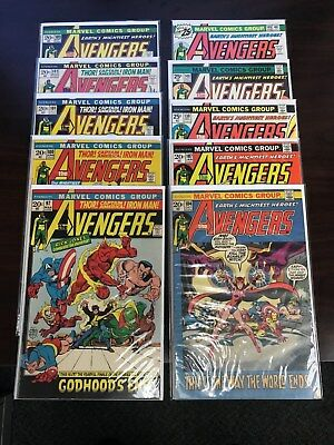 Avengers Marvel Bronze Age Lot of 10 comics 97-148